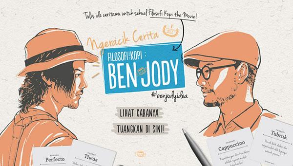 meracik cerita Filosofi Kopi Ben dan Jody