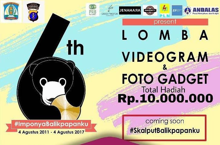 Lomba Foto Videogram dan Photo Gadget Balikpapan Total Hadiah 10 Juta