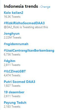 putri isnari trending topik twitter