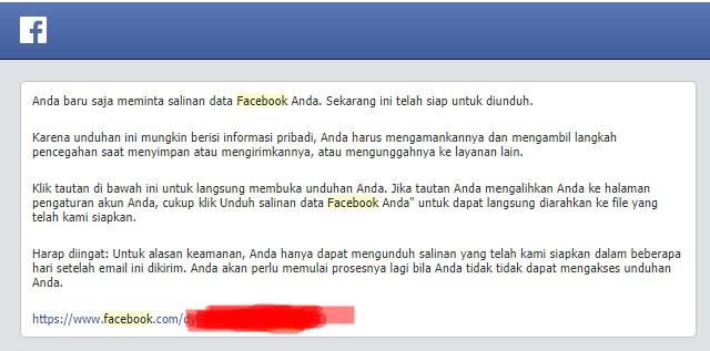 facebook download data