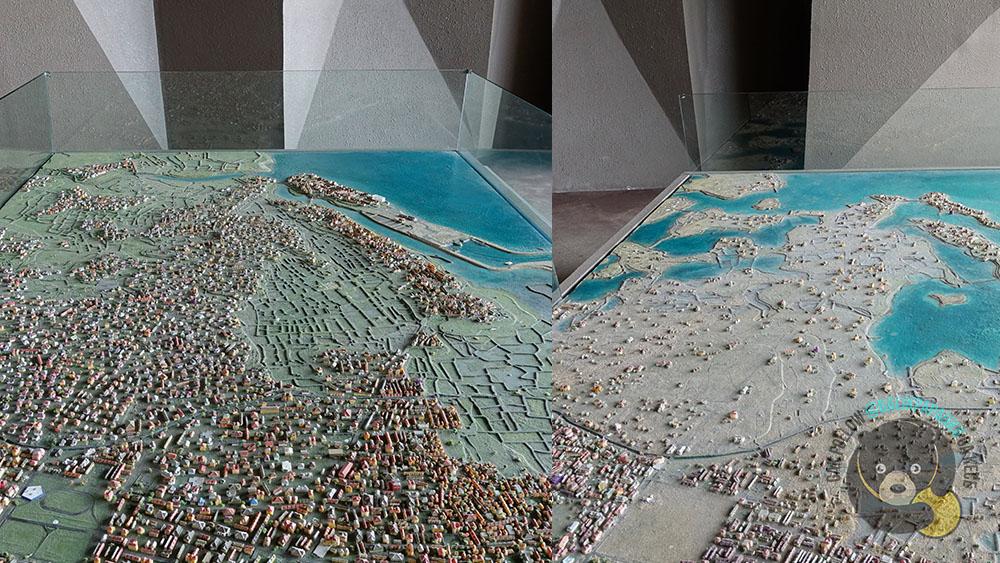 peta tsunami aceh sebelum dan sesudah
